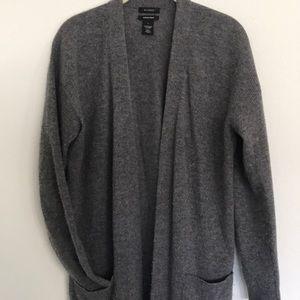 Grey Cashmere long cardigan